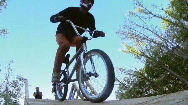 El primer salto cuádruple en bicicleta - Sputnik Mundo