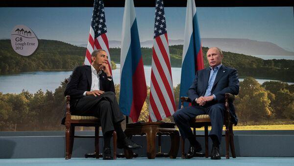 Barack Obama, presidente de EEUU, y Vladímir Putin, presidente de Rusia (Archivo) - Sputnik Mundo