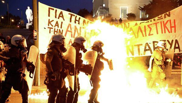 Disturbios en  la Plaza Syntagma, Atenas. 15 de julio de 2015 - Sputnik Mundo