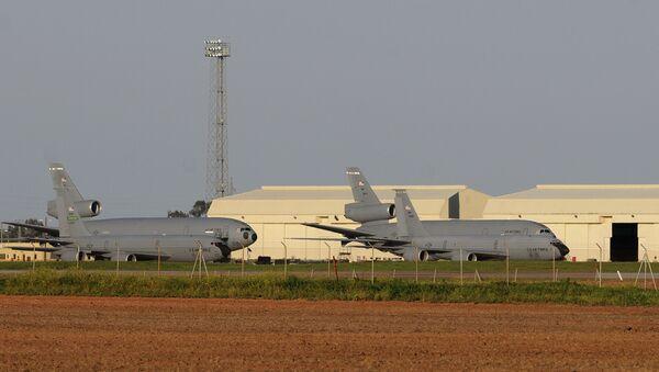 Aviónes militares estadounidenses en la base de Morón de la Frontera (archivo) - Sputnik Mundo