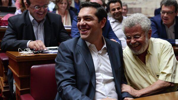 Alexis Tsipras, primer ministro de Grecia, durante la reunión del grupo parlamentario Syriza - Sputnik Mundo