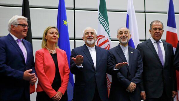 Participantes de las negociaciones sobre el programa nuclear iraní en Viena. 14 de julio de 2015 - Sputnik Mundo