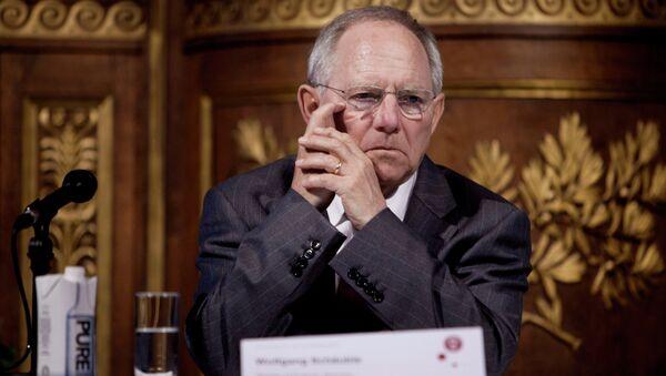 Wolfgang Schäuble, ministro de Finanzas de Alemania - Sputnik Mundo
