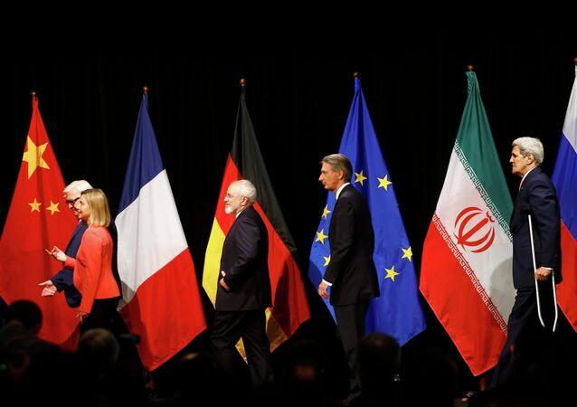 Participantes de las negociaciones sobre el programa nuclear iraní en Viena