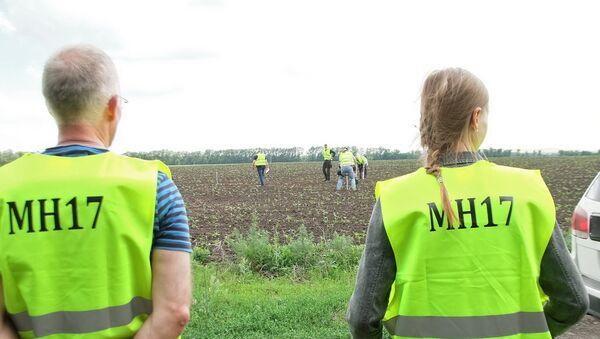 Lugar del siniestro del MH17 en el este de Ucrania - Sputnik Mundo