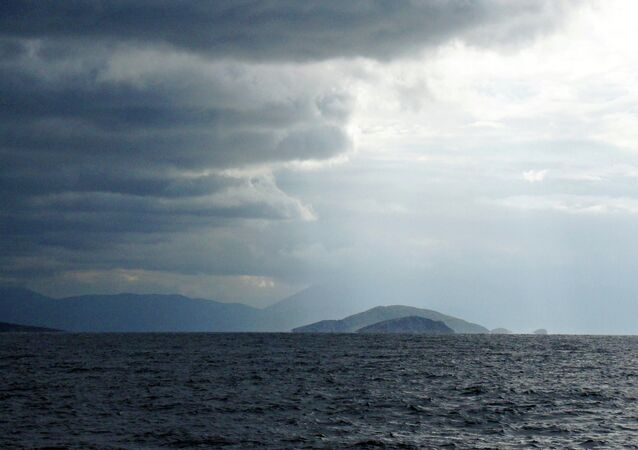 Golfo Sarónico de la costa oriental de Grecia