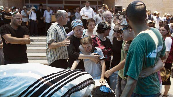 Funeral de Malachi Rosenfeld - Sputnik Mundo
