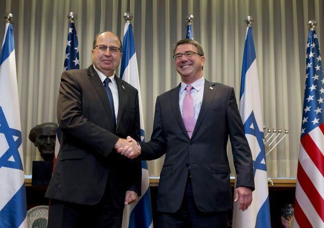 Ministro de Defensa de Israel, Moshe Yaalon, y secretario de Defensa de EEUU, Ashton Carter