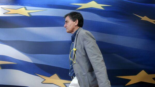 Euclid Tsakalotos, ministro de finanzas de Grecia - Sputnik Mundo