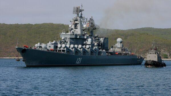 The RFS Moskva guided-missile cruiser - Sputnik Mundo