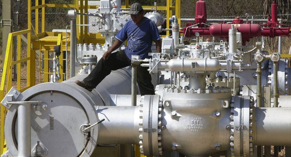 Estación de control de gas natural en Bolivia (archivo)