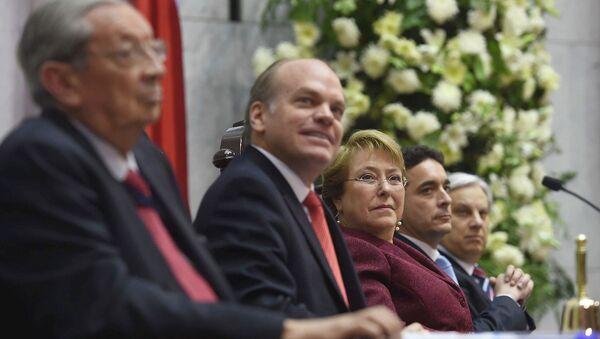 La presidenta de Chile Michelle Bachelet asistió a la Cuenta Pública de la gestión del Congreso Nacional - Sputnik Mundo