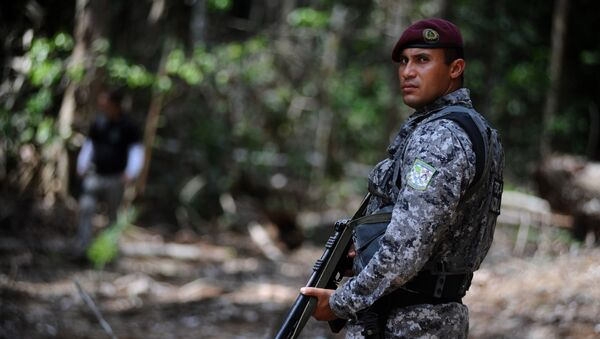 Un agente de la Fuerza Nacional de Seguridad Pública en el bosque de Amazonia - Sputnik Mundo