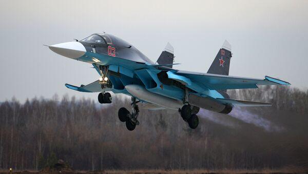 Cazabombardero ruso Sukhoi Su-34 - Sputnik Mundo