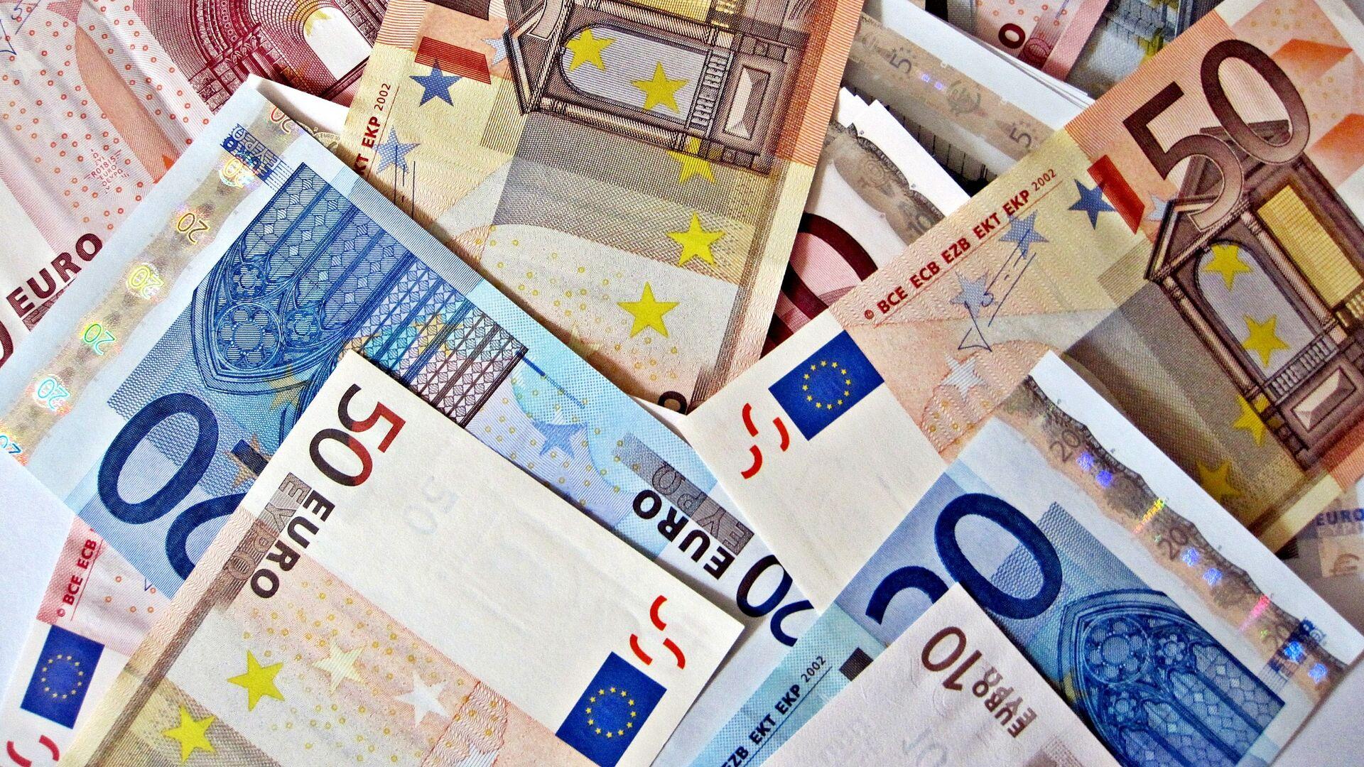 Billetes de euro - Sputnik Mundo, 1920, 23.03.2021