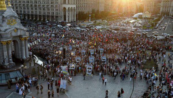 Asamblea Popular del grupo Pravy Sektor en Kiev - Sputnik Mundo