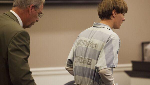 Dylann Roof, durante la audición en el Centro Judicial en Charleston - Sputnik Mundo