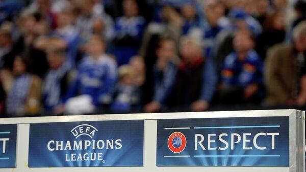 Una banderola  de la UEFA - Sputnik Mundo