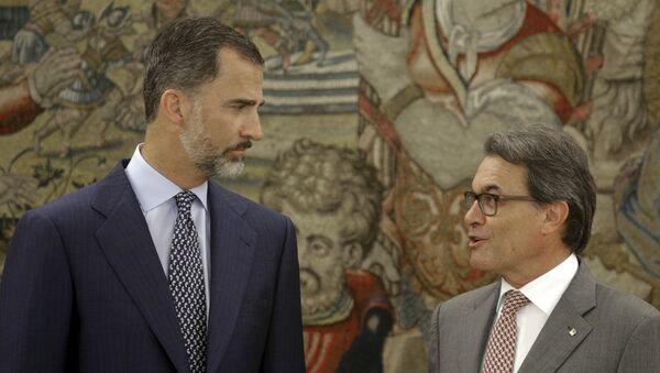 Felipe VI, rey de España, y Artur Mas, presidente de Cataluña, el 17 de julio, 2015 - Sputnik Mundo