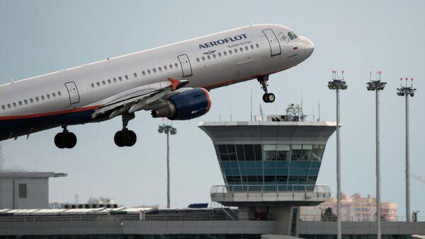 Avión Airbus A321 de compañía aérea rusa Aeroflot - Sputnik Mundo