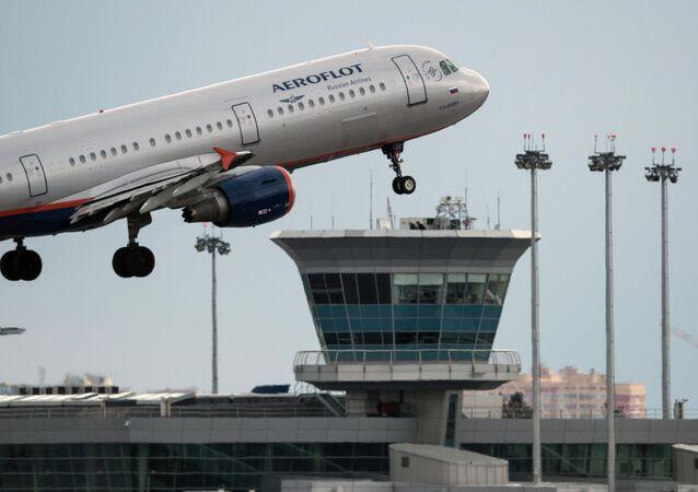 Avión Airbus A321 de compañía aérea rusa Aeroflot (imagen referencial)