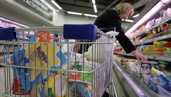 Productos lácteos en un supermercado en Rusia - Sputnik Mundo