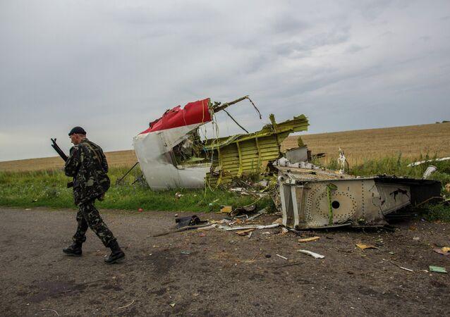 Lugar del accidente del avión MH17 en el este de Ucrania