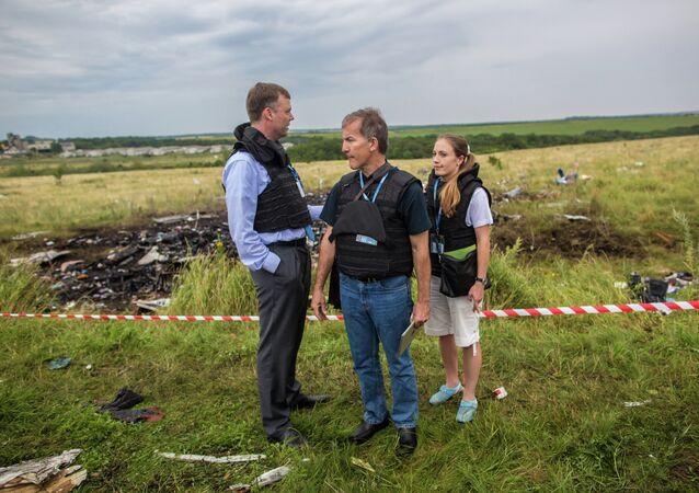 Sitio de accidente de Malaysia Airlines MH17 en Ucrania
