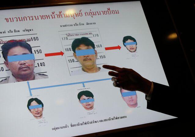 Sospechosos de la trata de personas en Tailandia, el 1 de julio, 2015