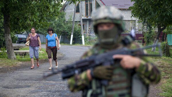 Militares ucranianos en Mukáchevo (Archivo) - Sputnik Mundo