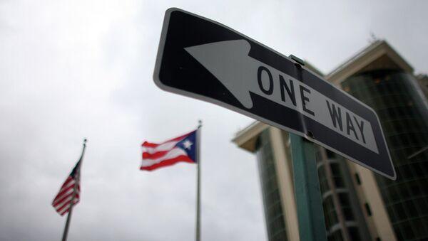 Señal de trafico en Guaynabo (Puerto Rico) - Sputnik Mundo