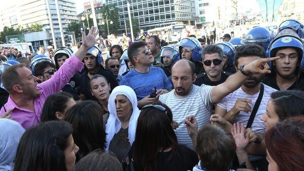 Protestas en Ankara - Sputnik Mundo