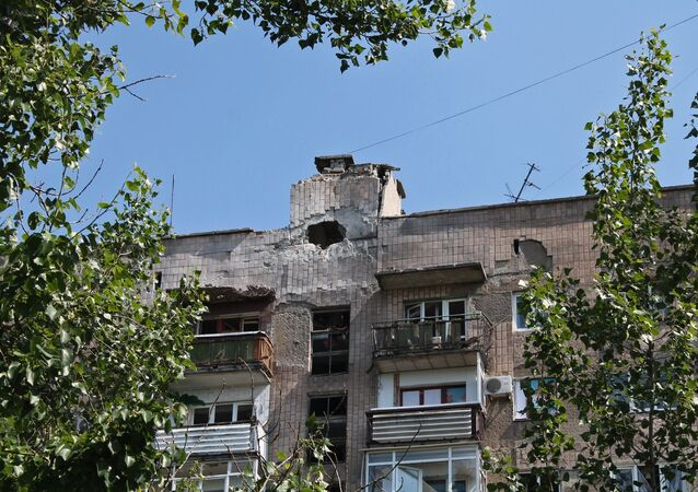 Después del bombardeo de la ciudad Gorlovka