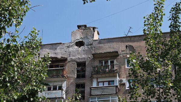Después del bombardeo de la ciudad Gorlovka - Sputnik Mundo