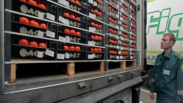 Un agente aduanal inspecciona los alimentos importados  - Sputnik Mundo