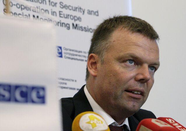 El subjefe de la Misión Especial de Monitoreo de la organización, Alexander Hug