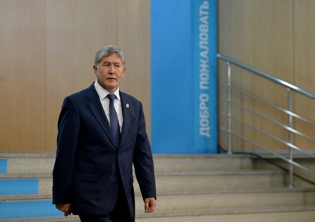 Almazbek Atambáev, expresidente de Kirguistán