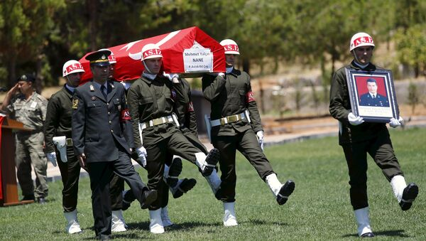 Funeral de soldado turco Mehmet Yalcin asesinado por milicianos de EI - Sputnik Mundo