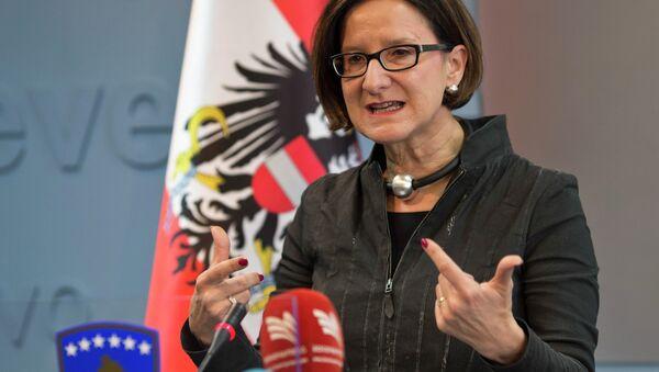 Johanna Mikl-Leitner, ministro del Interior de Austria - Sputnik Mundo