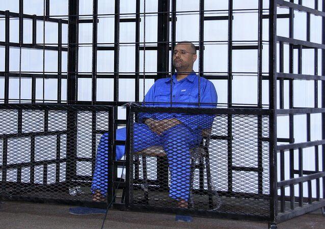 Seif al-Islam, hijo de Muamar Gadafi, durante la audiencia en Zintan, Libia (Archivo)