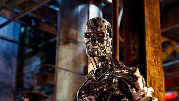 Robot con IA de película de ciencia ficción Terminator - Sputnik Mundo