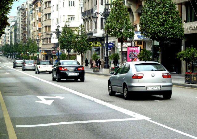 Calle en Oviedo, España