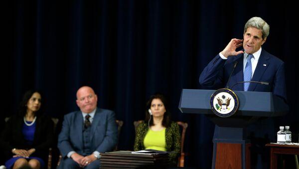 Secretario de Estado de EEUU, John Kerry, presenta un informe del Departamento de Estado sobre tráfico de personas de 2015 - Sputnik Mundo