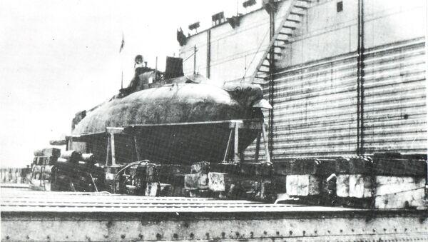 Submarino ruso Som en un dique flotante - Sputnik Mundo