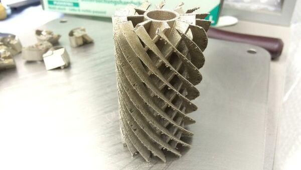 Pieza de un motor de turbina a gas que ha sido elaborada por una impresora 3D - Sputnik Mundo