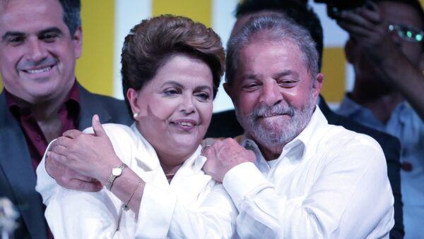 Los expresidentes de Brasil Dilma Rousseff y Luiz Inacio Lula da Silva - Sputnik Mundo