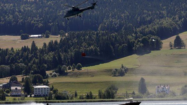 Helicóptero de la Fuerza Aérea Suiza Super Puma - Sputnik Mundo