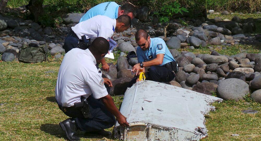 Fragmento hallado del MH370 (archivo)