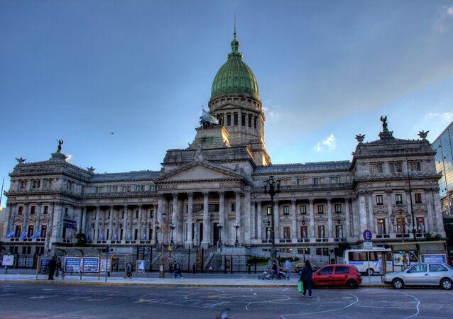 Edificio de Congreso de la Nación Argentina en Buenos Aires