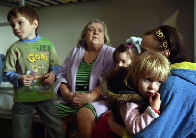 Refugiados ucranianos (archivo)